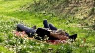 DOLLY HD: Affettuoso coppia godendo la primavera