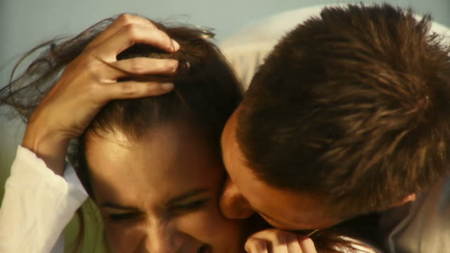 HD SLOW-MOTION: Affectionate Couple Outdoors