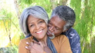 Affectionate Senior African American couple
