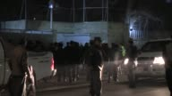 Afghan security services stand guard following a suicide bomb attack targeting the Frenchfunded Istiqlala secondary school home to the French...
