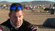 Afghan veteran and double amputee begins attempt to complete the Marathon des Sables MOROCOO Sahara Desert EXT Various of the competitors in the...