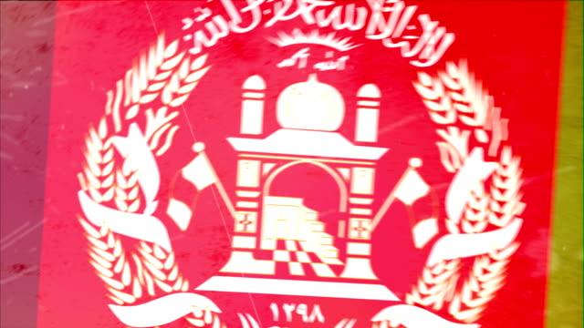 Afghanistan Flagge mit Grunge.  HD -