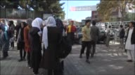 Afghans gather outside the buildings after a strong earthquake hits northeastern of Kabul Afghanistan on October 26 2015 75magnitude earthquake rocks...