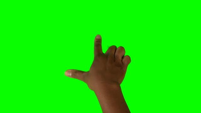 HD: African American Hand Durchführung zwei Finger drehen in beide Richtungen