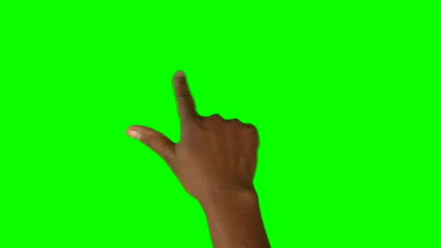 HD: African American Hand mit einem einem Finger Swipe für Scrolling in beide Richtungen
