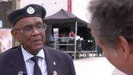 African and Caribbean war memorial unveiled in London London Brixton EXT **Music heard intermittently SOT** Allan Wilmot interview SOT **Wilmot...