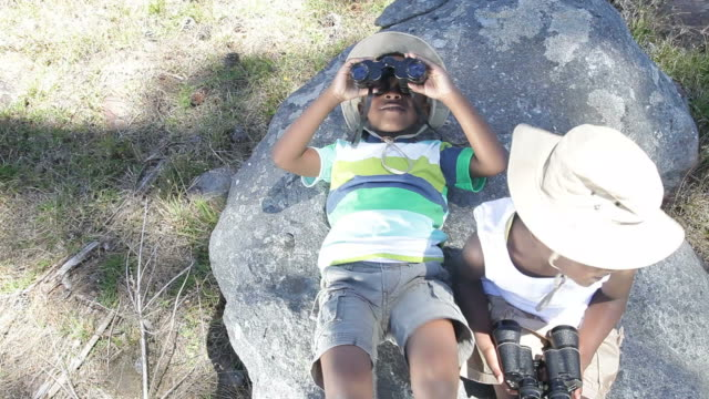African kids exploring the nature