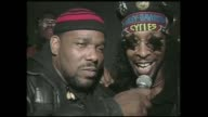 Afrika Bambatta Bootsy Collins interviewed by DJ Chuck Chillout backstage at the Zulu Nation 20th anniversary at The Building in NYC