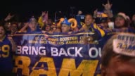 KTLA After 21 years of no NFL football in Los Angeles sports fans throughout the county rejoiced that the region will once again be home to the Rams...