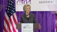 After a bout with pneumonia Hillary Clinton returns to the campaign trail to address the Black Women's Agenda meeting In this section she thanks...