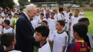 After a traumatic summer of war and death Israeli and Palestinian children squared off on Monday for games of football just miles away from the...