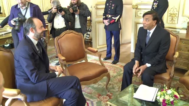 After announcing massive investments to modernise France's metallurgical industry Arcelor Mittal President Lakshmi Mittal met with Prime Minister...