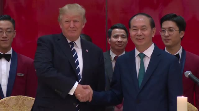 After attending the Asia Pacific Economic Cooperation summit the US President meets his Vietnamese counterpart Tran Dai Quang in Hanoi and attends a...
