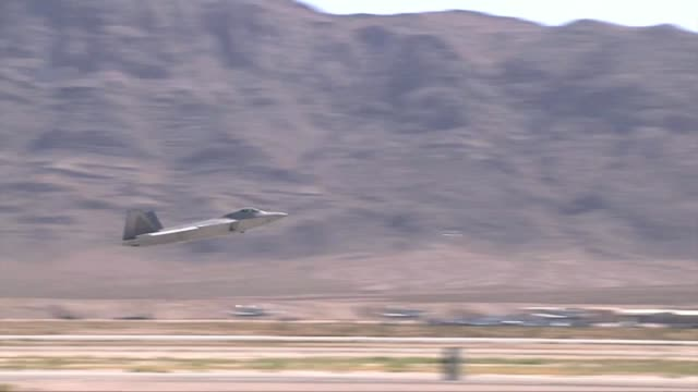 After being grounded in May the F22 Raptors are cleared to resume operations Footage includes first launches of Raptors at Nellis Air Force Base