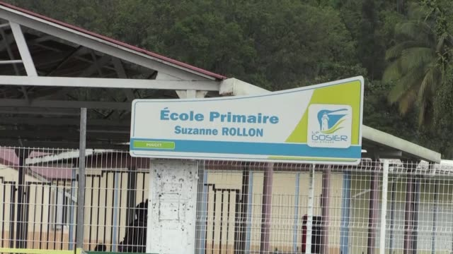 After Hurricane Maria swept through Guadeloupe leaving a trail of destruction in its wake children on the island of Guadeloupe went back to school on...