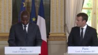 After meeting with French President Emmanuel Macron President of the Central African Republic Faustin Archange Touadera thanks France for its help in...