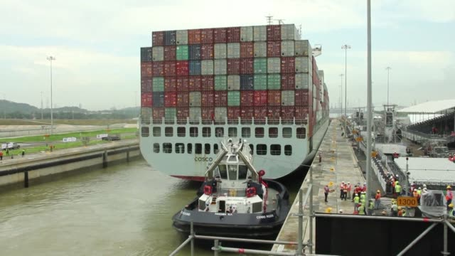 After nine years of massive work a renovated and expanded Panama Canal is set to be unveiled on Sunday ready to take on much bigger cargo ships with...