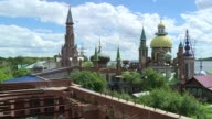 After the death of its founder artist Ildar Khanov and a fire the Temple of all Religions a glittering architectural ensemble on the banks of the...