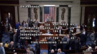 After two weeks of debate interrupted by landfall of Hurricane Irma Representative Virginia Foxx then presiding announces that the House of...