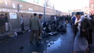 Aftermath of deadly suicide attack that killed more than 30 people near police academy in the capital city of Sanaa