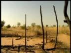 Aftermath of devastation caused by Janjaweed militia upon village Darfur 2006