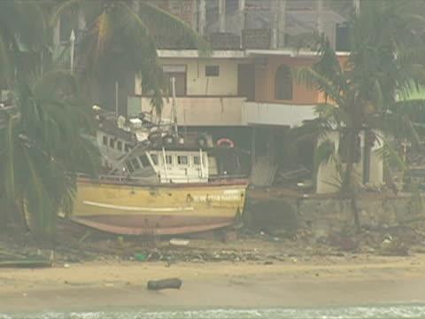 Aftermath of Tsunami in Sri Lanka