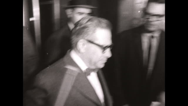 FBI Agents Escort Arrested Mafia Crime Boss Mob Leader Anthony Tony Ducks Corallo into Elevator