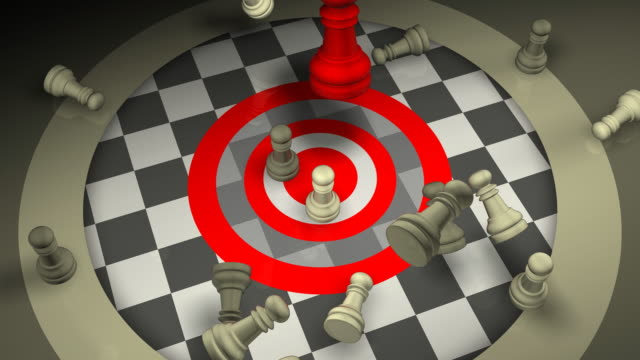 Aggressive Leadership Concept, Chess, Checkmate, Teamwork