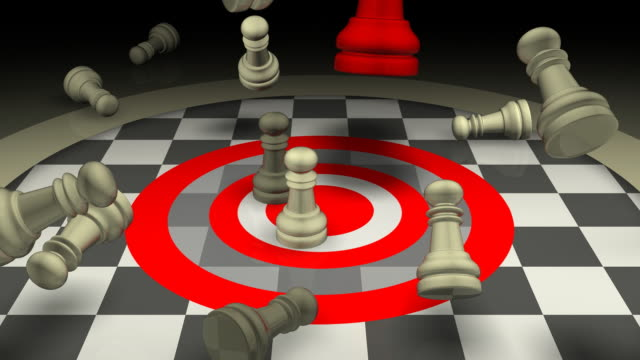 Aggressive Leadership Concept, Chess, Checkmate