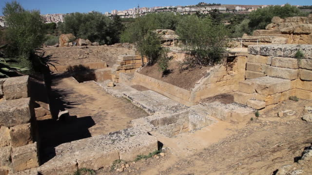 Agrigento, constructions behind the temple of Olympian Zeus