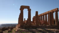 Agrigento, temple Doric of Juno Lacinia, peripteral hexastyle temple, built in the half of the fifth century B.C.