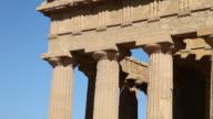 Agrigento, temple of Concord, a splendid example of Doric architecture, 4th century B.C.
