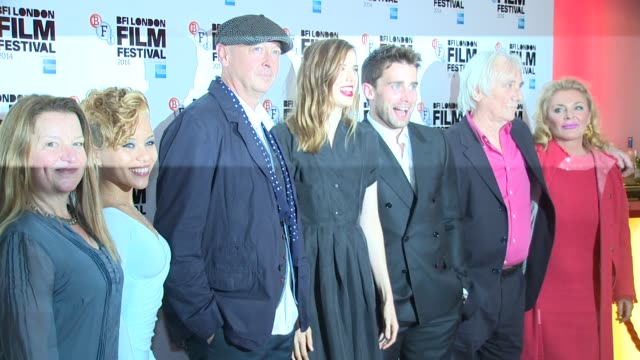 Agyness Deyn Christian Cooke and Bryn Higgins at Electricity world premiere on 14th October 2014 in London England
