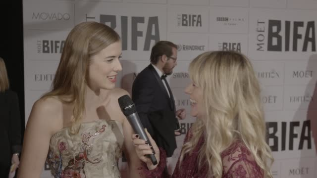 INTERVIEW Agyness Deyn on being nominated for her role in 'Sunset Song' at Moet British Independent Film Awards at The Old Billingsgate on December 6...