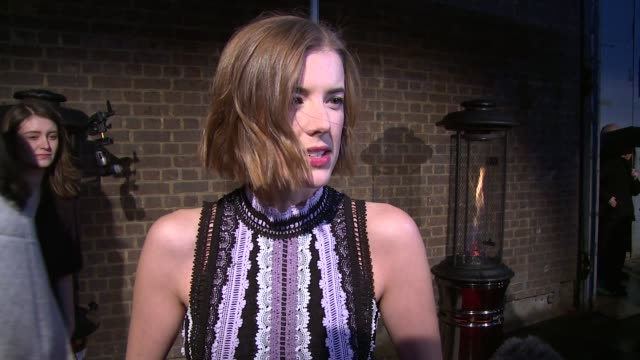 INTERVIEW Agyness Deyn on the awards independent films and theatre at The London Television Centre on February 07 2016 in London England