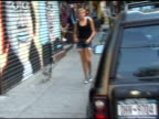 Agyness Deyn on Thompson Street in the West Village at the Celebrity Sightings in New York at New York NY