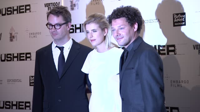 Agyness Deyn Richard Coyle Nicolas Winding Refn at Pusher Gala Screening at Hackney Picturehouse on October 04 2012 in London England