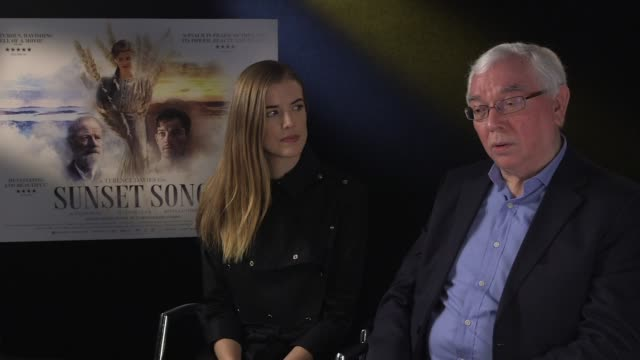 INTERVIEW Agyness Deyn Terence Davies on the book the book being know well in Scotland at Sunset Song interview on December 04 2015 in London England