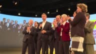 Ahead of Germany's federal election on Sunday 24 September the leader of the German Liberal Party Christian Lindner addresses supporters during a...