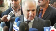 Ahmed Chalabi a key lobbyist for the US invasion of Iraq who was blamed for providing false intelligence on weapons of mass destruction to justify it...