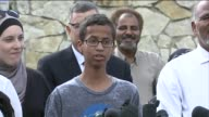 KDAF Ahmed Mohamed Teen Arrested For Bringing Clock To School Speaks at a press conference in front of the family's Irving Texas home on September 16...