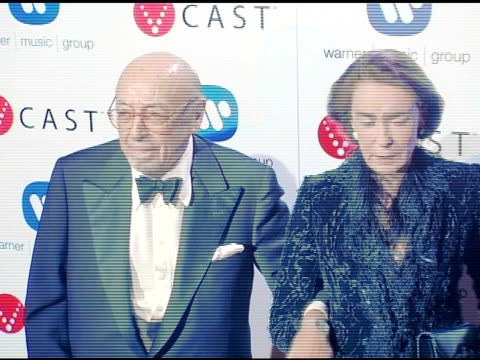 Ahmet Ertegun and wife at the Warner Music Group's PostGrammy Party at Pacific Design Center in West Hollywood California on February 13 2005
