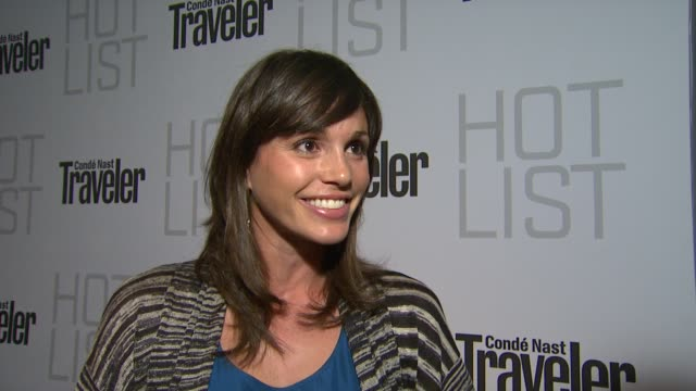Aida Mollenkamp on the event at the Conde Nast Traveler Hot List Party at West Hollywood CA