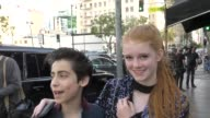 INTERVIEW Aidan Gallagher Abby Donnelly talk about how you have to be multitalented to be of Nick Disney outside Avalon Nightclub in Hollywood in...
