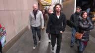 Aidan Turner Graham McTavish and Adam Brown at the VH1 studios in New York NY on 12/7/12
