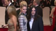 Aimee Mullins and designer Olivier Theyskens at the 'Alexander McQueen Savage Beauty' Costume Institute Gala At The Metropolitan Museum Of Art at New...