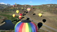 Air Balloons with Aspen background