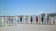 WS Air force cadets drill / march past officers in reviewing stand