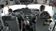 TS Air Force Pilots in cockpit during flight, Colorado Rockies, Colorado, USA