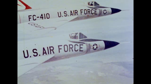 U.S. Air Force planes soar through the sky